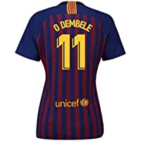 UKSoccershop 2018-2019 Barcelona Home Nike Ladies Shirt (O Dembele 11)