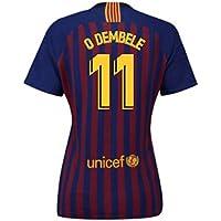 2018-2019 Barcelona Home Nike Ladies Football Soccer T-Shirt Camiseta (Ousmane Dembele 11)
