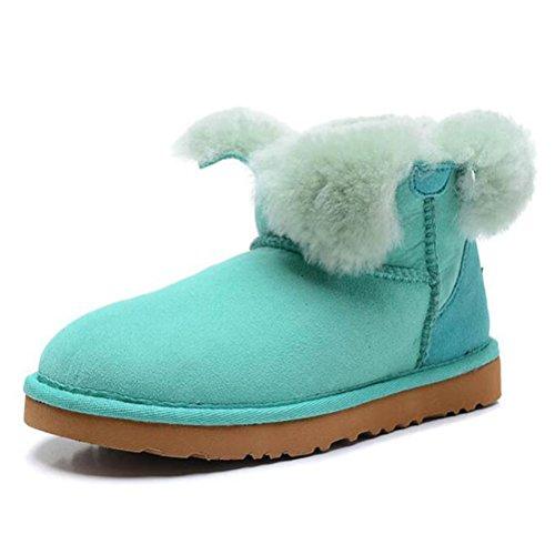 Vogstyle Damen Classic Schuhe Winter Regen Schnee Stiefel Art 1 Azurblau