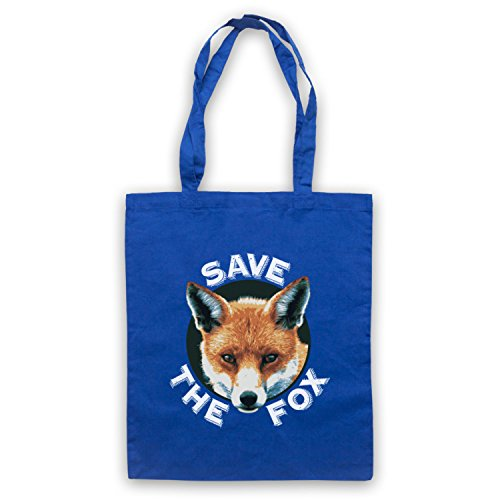 Save The Fox Protest Umhangetaschen Blau