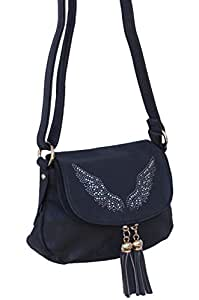 petit Sac à main pochette bandouliere ailes en strass les anges