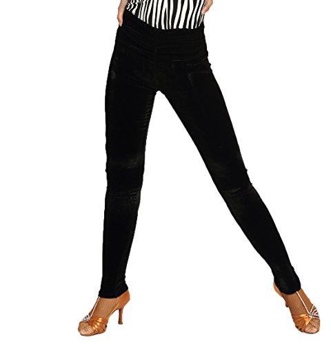 Manuelle Korn (G4031 Latin und Standard Tanz hoch-taillierte Faltfläche entworfene Körperhosen angeboten von GloriaDance (velvet;no-stand-foot, medium))