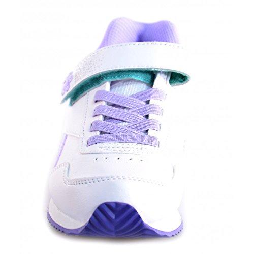 Reebok - Reebok Scarpe Bambina Bianco Viola Pelle 52365 Bianco