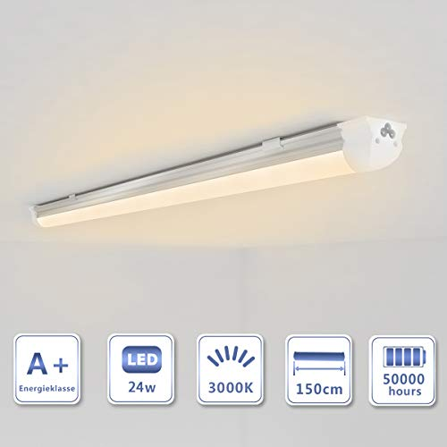 OUBO LED Leuchtstoffröhre komplett 150cm T8 Tube Röhrenlampe Leuchtstofflampe Warmweiß 24W 2450 lm