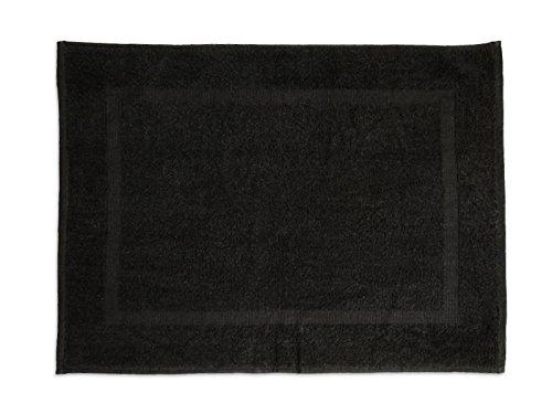 Soleil d'Ocre 477043 Tapis de Bain Coton Noir 50 x 70 cm