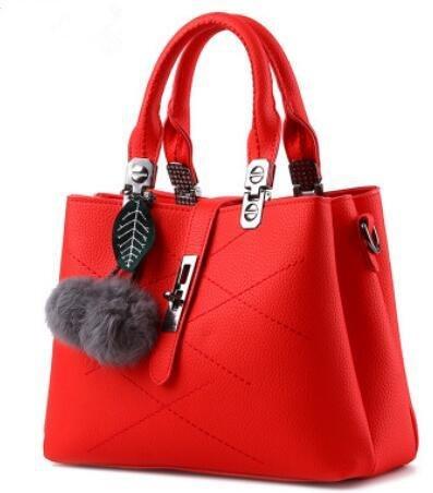 HQYSS Damen-handtaschen Trendige klassische süße Lady Schulter Messenger Tasche big red