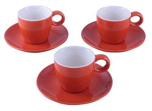 Espressotasse mit Untertasse 0,1 Liter orange Set