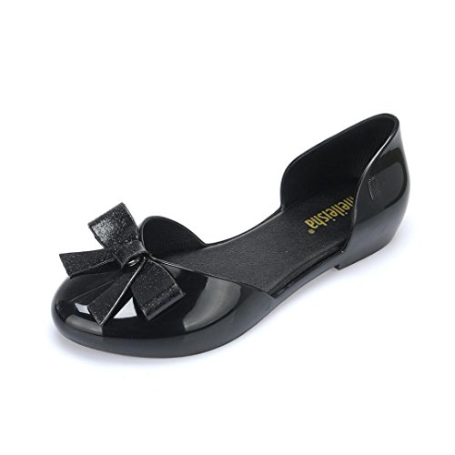 VEMOW Sandals for Teen Girls Fashion for Women 2018 Spring Summer Butterfly-Knot Lovely Ladies Workplace Flat Heel Beach Bow Round Toe Crystal Shoes Casual Shoes Ladies Girls School Sport Party Club