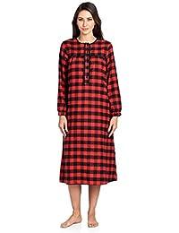 d661898fa1 Ashford   Brooks Women s Flannel Plaid Long Sleeve Nightgown Sleepwear