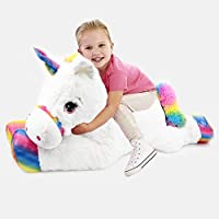 Giant Large Unicorn Stuffed Plush Super Soft Toy Lying Pony Unicorn Teddy