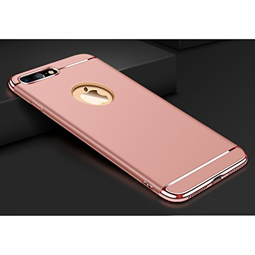 """Apple iPhone 8 Plus (5.5"""") Hülle, MSVII® 3-in-1 Design PC Hülle Schutzhülle Case Und Displayschutzfolie für Apple iPhone 8 Plus (5.5"""") - Rose Gold JY50188 Rose Gold"""