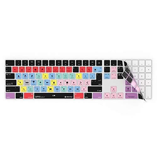 Final Cut Pro X Tastaturabdeckung, passend für Apple Magic Wireless Keyboard mit Ziffernblock, Schutz und Shortcuts. (Final Cut Tastatur)