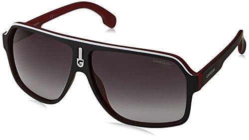 Carrera Unisex-Erwachsene 1001/S 9O BLX Sonnenbrille, Rot (MTBKRTCRYRED/DARK GREY SF), 62