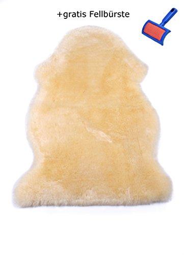 """Baby-Lammfell Öko-Schaffell medizinisch gegerbt, geschoren, waschbar, 90-100 cm Öko-Test""""Gut"""", incl gratis Lammfellbürste"""