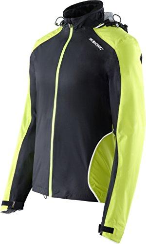 X-Bionic Erwachsene Funktionsbekleidung Running Man Symframe OW Jacket Jacke, Black/Green lime, S
