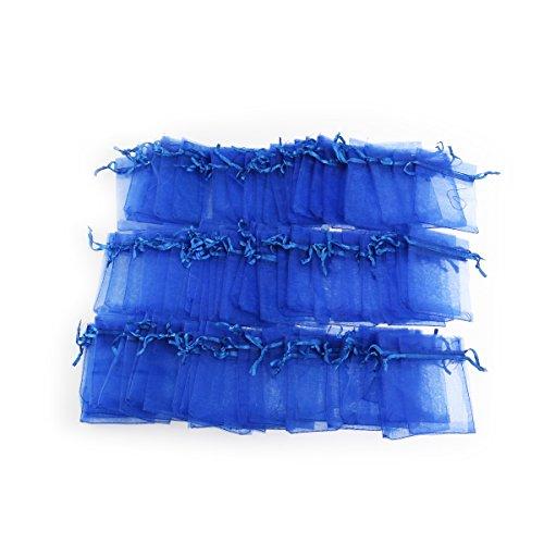 Foxnovo 100X Organzabeutel Schmuckbeutel Geschenkbeutel Säckchen Beutel aus Organza,7x9cm (dunkel blau)