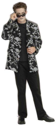 Skull & Cross Bones Sport Jacket Adult Costume Medium