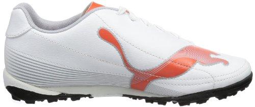 Puma Velize II Tt Jr, Chaussures de football garçon Blanc - Weiß (white-cherry tomato-gray dawn 01)