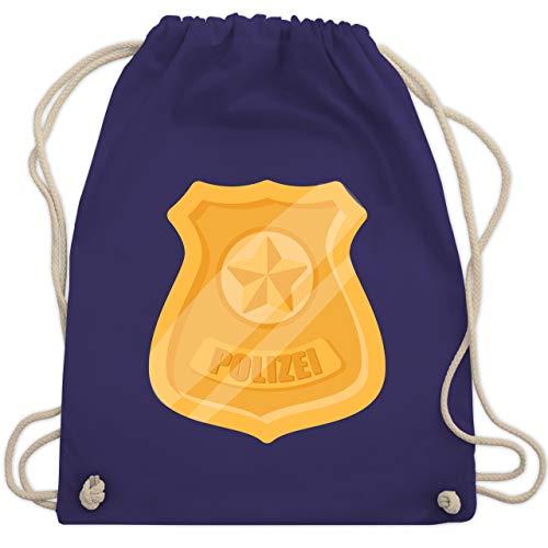 Faschingkostüm Zubehör Polizei - Karneval & Fasching - Polizei Marke Karneval Kostüm - Unisize - Lila - WM110 - Turnbeutel & Gym Bag