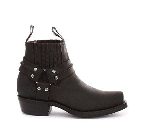 Schleifer New Renegade Schwarz oder Braun Reiten Cowboy Stiefel mit Drei-Wege-Knšchelriemen Design Braun Lo