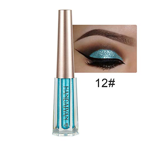 Missoul Metallic Shiny Smoky Eyes Eyeshadow Waterproof Glitter Liquid Eyeliner