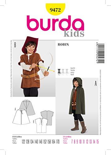 Burda b9472Schnittmuster Robin 19 x 13 cm 122-170 ()