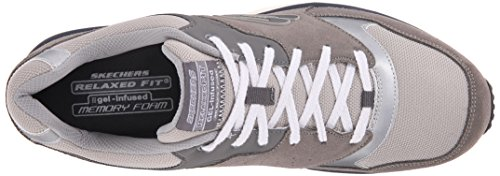 Skechers Sport Mens Direct Flight Sneaker Gray/Charcoal