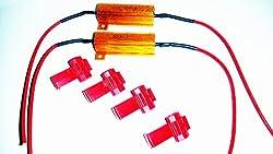 2 Universal Resistor Widerstände Widerstand Lastwiderstand 50 Watt 6 Ohm Canbus Check keine Fehlermeldung 12 Volt H1 H3 H4 H7 H8 H10 H11 HB4 Bay15D Bau15S Ba15S 9006 HB4 9005 HB3 3157 7743 7440T10 W5W z.B. Nebler Nebelscheinwerfer Blinker