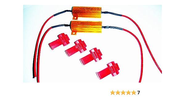 Load Resistor 50 W 6 Ohm Two Resistors Canbus 12 V H1 H3 H4 H7 H8 H10 H11 Hb4 T10 W5 W No Error Message E G Fogger Fog Light Blinker The Fair