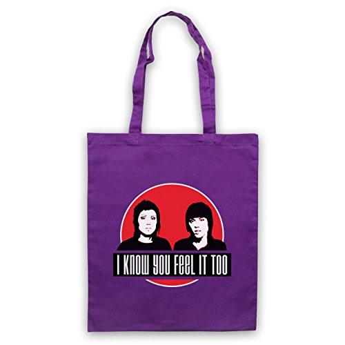 Inspiriert durch Tegan & Sara Hell Inoffiziell Umhangetaschen Violett