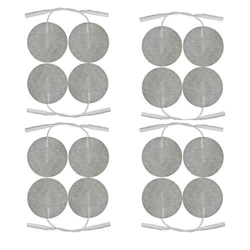 Runde Elektro-Pads -50mm - 16 Stück - TENS und EMS - 2mm Steckanschluss - Runde Elektroden