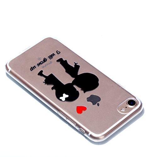 Coque Cover iphone 7, Cozy Hut iphone 7 Coque Housse Etui anti chocs Back Cover Bumper Case Anti Scratch Shock Absorption for iphone 7 Souple Silicone Etui iphone 7 Housse étui de Protection en TPU So enfance