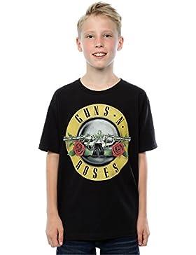 Guns N Roses Jungen Bullet Logo T-Shirt 12-13 years Schwarz