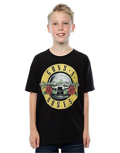 Guns N Roses Niños Bullet Logo Camiseta 7-8 Years Negro