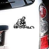Sticker Adesivi Auto 17.8Cmx10.2Cm Sport Bodybuilding Culturista Muscle Man Fitness Car Styling Adesivi Decalcomanie