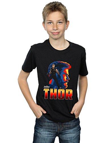 Avengers Niños Infinity War Thor Character Camiseta Negro 5-6 Years