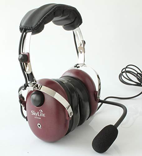 SkyLite SL-900M Aviation MP3-Headset, rot (Aviation Mp3 Headset)