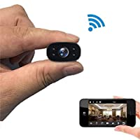 Mopoq 1080P Hidden Portable WiFi Camera With Motion Detection, Mini Spy Security Camera For Babysitter, Black Color, Small Wireless WiFi Remote Surveillance Camera, Black) (Color : 32G memory card)