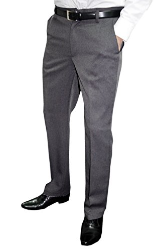 Mens Fashion Herren Anzughose mit Bügelfalte, Grau, Gr 44 - 2