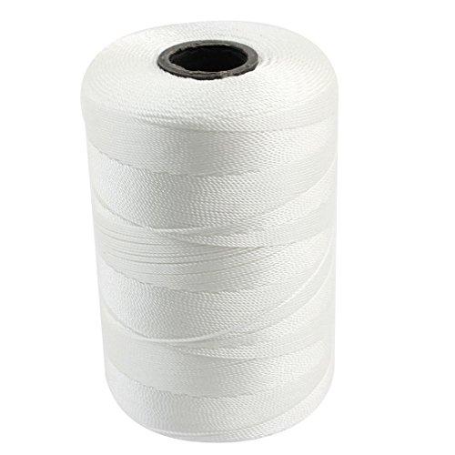 Drei Strand-Handschuhe Stitching Sew-Seil-Schnur 0.7mm Dia Weiß (Seil-handschuhe)