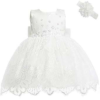 la più grande selezione Promozione delle vendite il più grande sconto AHAHA Abiti da Sposa Principessa Neonata Battesimo Vestitino