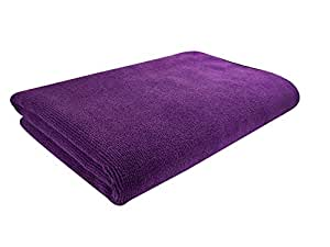SOFTSPUN Microfiber Bath & Hair Care Towel Set of 1 Piece, 60x120 Cms, 340 GSM (Purple). Super Soft & Comfortable, Quick Drying, Ultra Absorbent in Large Size.