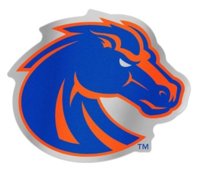 Wincraft Snack-Schale NCAA Boise State University Broncos 12,3 x 8,9 cm Zoll Kunststoff Auto Badge Aufkleber Aufkleber (Aufkleber Auto Broncos)