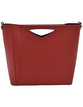 AMALIA Henkeltaschen Schultertaschen Handtaschen Tasche Damen Echtes Leder Made in Italy