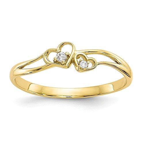 Jewels By Lux  -  10 K  Gelbgold Rundschliff   Farblos
