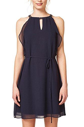 ESPRIT Collection Damen Kleid 048EO1E018, Blau (Navy 400), 40