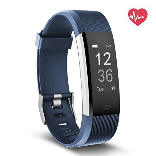Fitness Tracker mit Herzfrequenz, Delvfire Wasserdicht Aktivitätstracker uhr mit Pulsemesser, Smart Armband für Damen, Herren, Kinder mit Schlafüberwachung, Schrittzähler für...