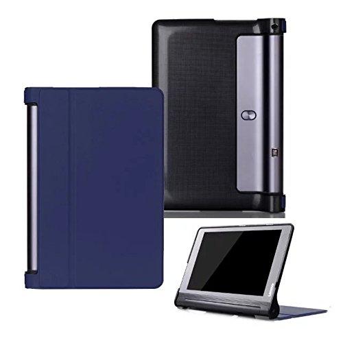 tablet lenovo yoga 3 pro Kepuch Custer Lenovo Yoga Tab 3 Plus 10.1 YT-X703 Custodia - PU Pelle Folio Custodia Case Cover per Lenovo Yoga Tab 3 Pro 10.1 YT3-X90L YT3-X90F - Blu