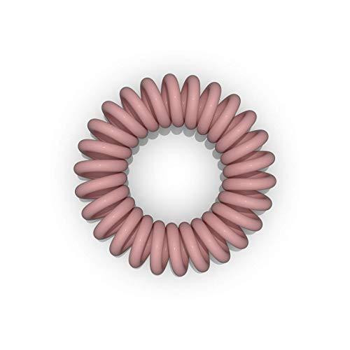 10er Set Spiral-Haargummi beige groß (3,5 cm, beige, 1x 10 Stück) / Spirale Haargummi