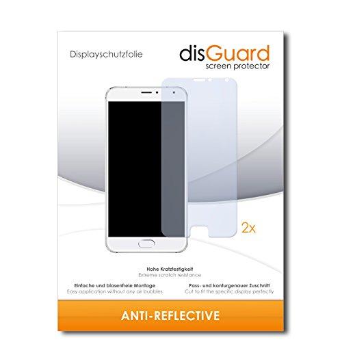 disGuard® Bildschirmschutzfolie [Anti-Reflex] kompatibel mit Meizu Pro 5 [2 Stück] Entspiegelnd, Matt, Antireflektierend, Extrem Kratzfest, Anti-Fingerabdruck - Panzerglas Folie, Schutzfolie